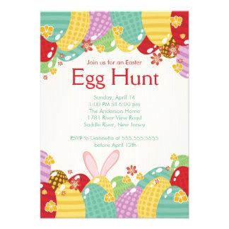 Convite de festas da páscoa da caça do ovo do coel