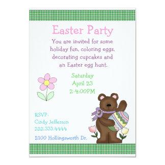 Convite de festas da páscoa das crianças