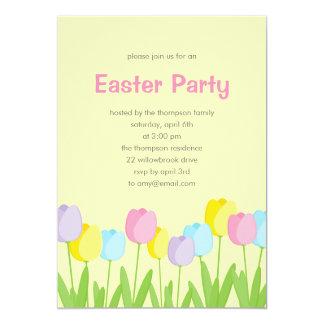 Convite de festas da páscoa das tulipas do