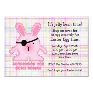 Convite de festas da páscoa do coelho do pirata