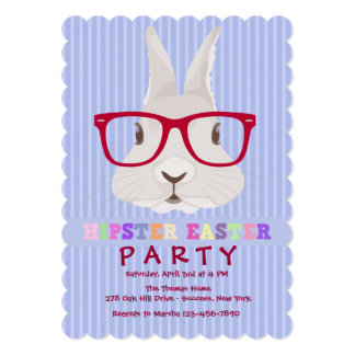 Convite de festas da páscoa do hipster convite 12.7 x 17.78cm