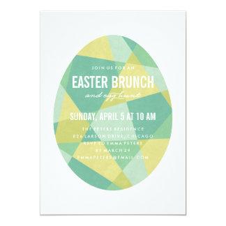 Convite de festas da páscoa do ovo de prisma -