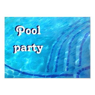Convite de festas da piscina