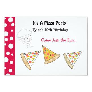 Convite de festas da pizza convite 8.89 x 12.7cm