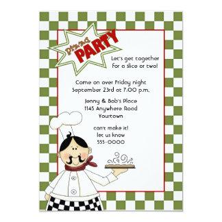Convite de festas da pizza