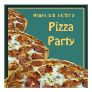 Convite de festas da pizza da cerveja