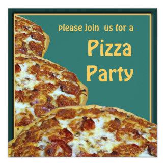 Convite de festas da pizza & da cerveja