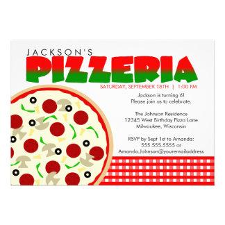 Convite de festas da pizza da pizaria