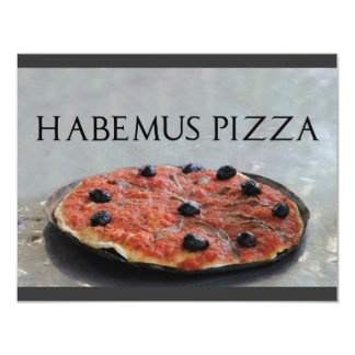 Convite de festas da pizza de Habemus Convite 10.79 X 13.97cm