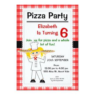 Convite de festas da pizza do aniversário