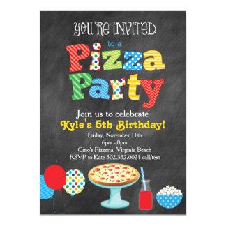 Convite de festas da pizza do quadro (cores