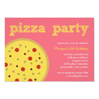 Convite de festas da pizza (Pink)