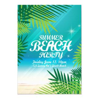 Cartão Convite de festas da praia do verão