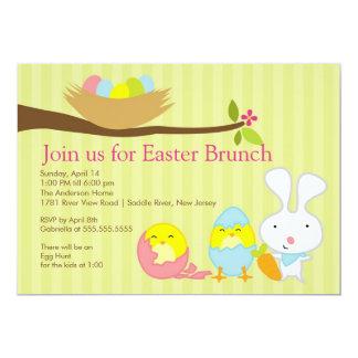 Convite de festas da refeição matinal da páscoa do