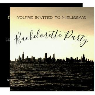 Convite de festas da skyline de Chicago