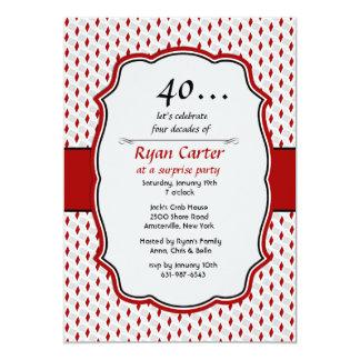 Convite de festas da surpresa da celebração do convite 12.7 x 17.78cm