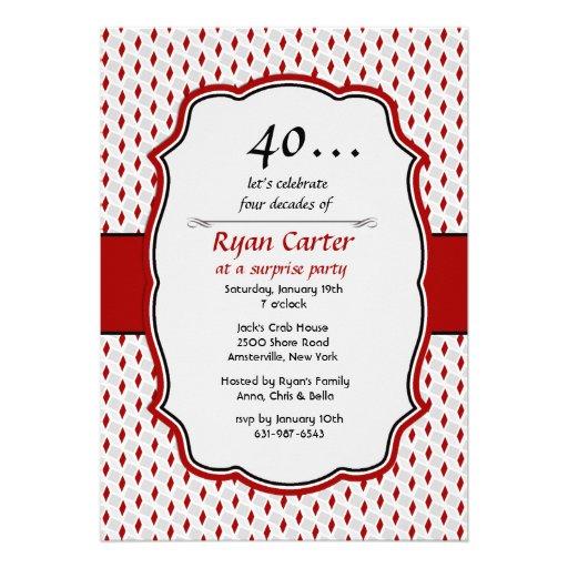 Convite de festas da surpresa da celebração do dia