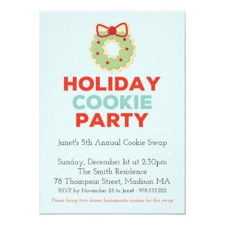 Convite de festas da troca do biscoito do Natal