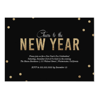 Convite de festas da véspera de Ano Novo
