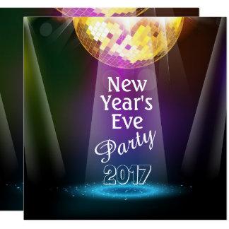 Convite de festas da véspera de Ano Novo da bola
