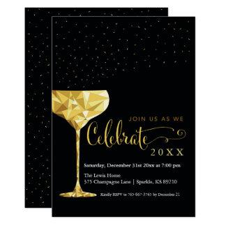 Convite de festas da véspera de Ano Novo de