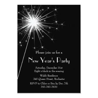 Convite de festas da véspera de Ano Novo do