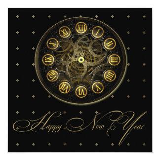 Convite de festas da véspera de ano novo do pulso
