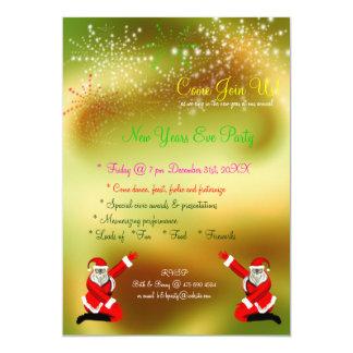 Convite de festas da véspera de ano novo dos