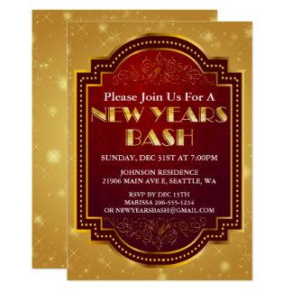 Convite de festas da véspera de ano novo Sparkling