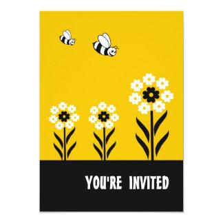 Convite de festas das flores brancas