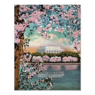 Convite de festas das flores de cerejeira