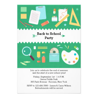 Convite de festas das fontes de escola