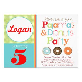 Convite de festas das rosquinhas & dos pijamas (me