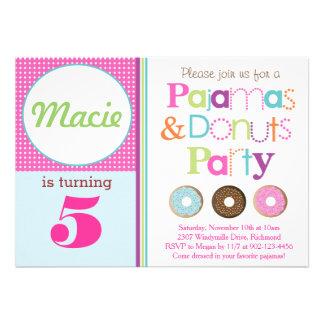 Convite de festas das rosquinhas & dos pijamas (Pi