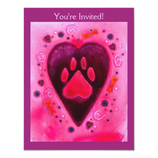 "Convite de festas - de ""amor filhote de cachorro """
