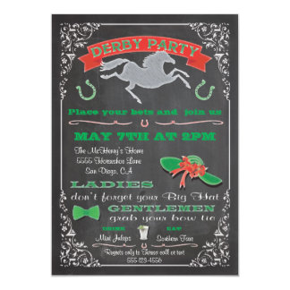 Convite de festas de Derby da corrida de cavalos