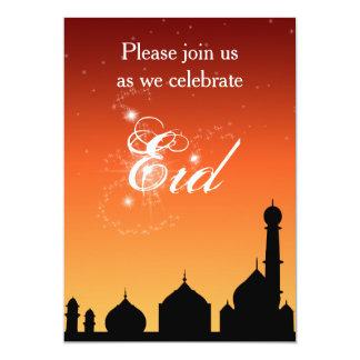 Convite de festas de Eid do céu da noite da