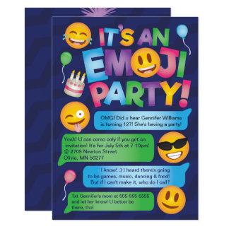 Convite de festas de Emoji do divertimento
