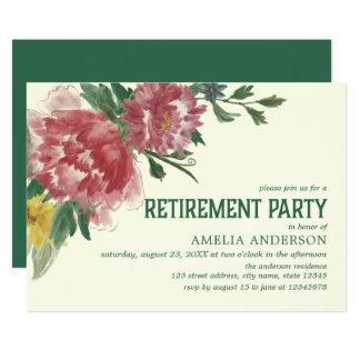 Convite de festas de florescência da aposentadoria