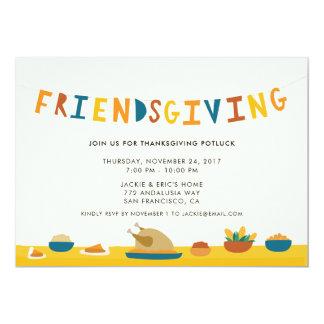 Convite de festas de Friendsgiving