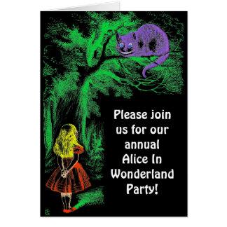 "Convite de festas: De ""gato Cheshire """