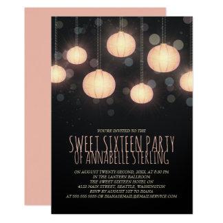 Convite de festas de incandescência do doce