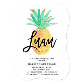 Convite de festas de Luau