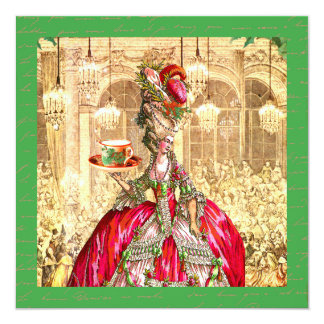 Convite de festas de Marie Antoinette