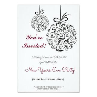 Convite de festas de NYE