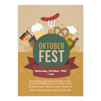 Convite de festas de Oktoberfest