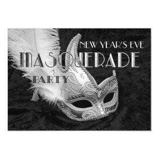 Convite de festas de prata preto da bola de