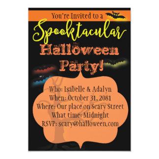 Convite de festas de Spooktacular o Dia das Bruxas
