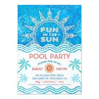 Convite de festas de Sun do verão