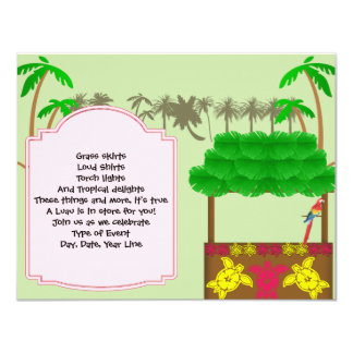 Convite de festas de Tiki Luau
